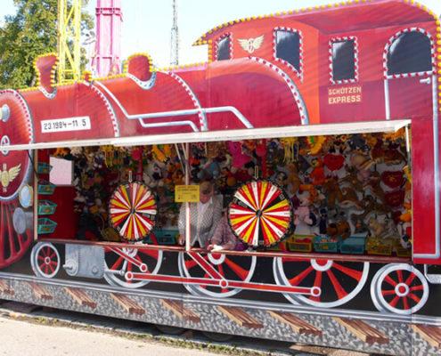 Hau den Lukas - Ronald Avi - Vergnügungsbetriebe - Glücksräder (Lokomotive)
